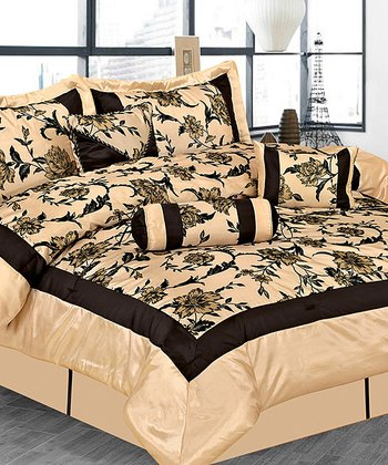 Beige Luxury Comforter Set
