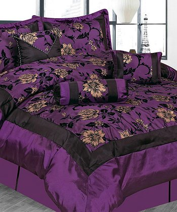 Dark Purple Luxury Comforter Set
