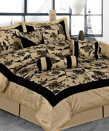 Taupe Luxury Comforter Set