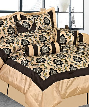 Beige Regal Luxury Comforter Set