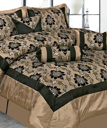 Taupe Regal Luxury Comforter Set