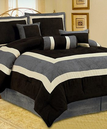 Black & Gray Luxury Comforter Set