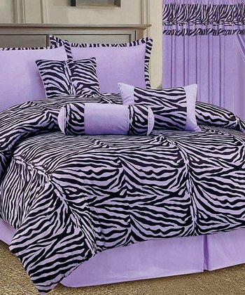 Purple Zebra Luxury Comforter Set