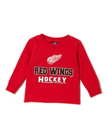 Detroit Red Wings Long-Sleeve Top - Toddler