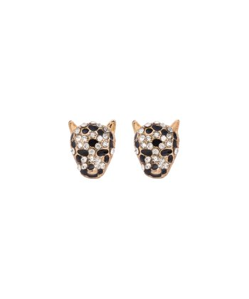 Gold & Black Eye of the Tiger Earrings
