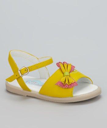 Little Dominique Yellow Bow Sandal