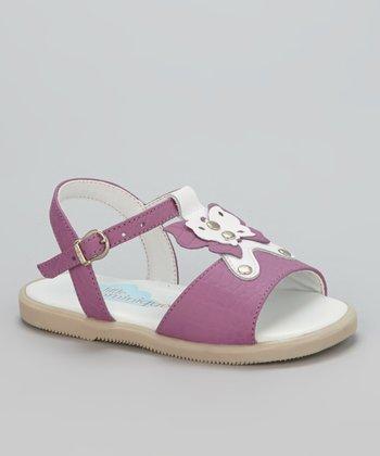 Little Dominique Pink Butterfly T-Strap Sandal
