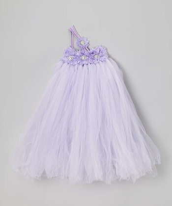 Lavender Asymmetrical Tutu Dress - Infant, Toddler & Girls