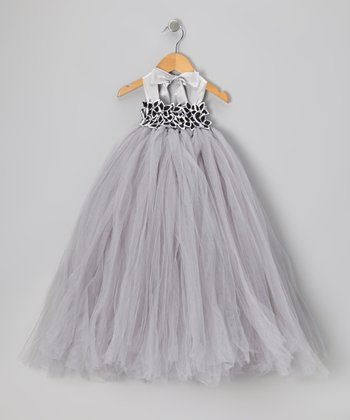 Silver Garden Tulle Dress - Infant, Toddler & Girls