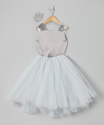 Silver Tutu Set - Infant, Toddler & Girls