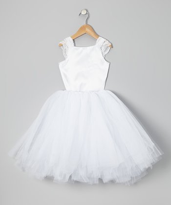 White Top & Tutu - Infant, Toddler & Girls