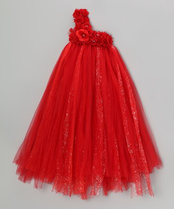 Red Rose Tulle Dress - Infant, Toddler & Girls