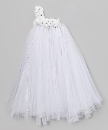 White Blossom Tutu Dress - Infant, Toddler & Girls