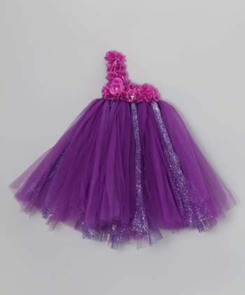 Purple Blossom Tutu Dress - Infant & Toddler