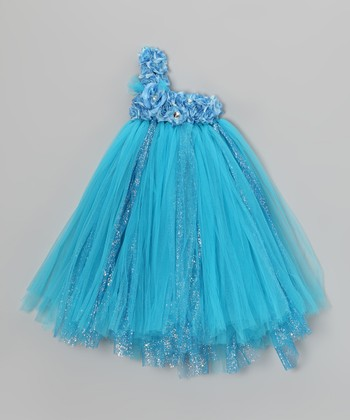 Turquoise Blossom Tutu Dress - Infant, Toddler & Girls