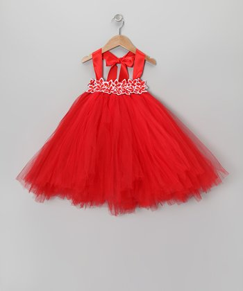 Red Star Flower Tutu Dress - Infant, Toddler & Girls