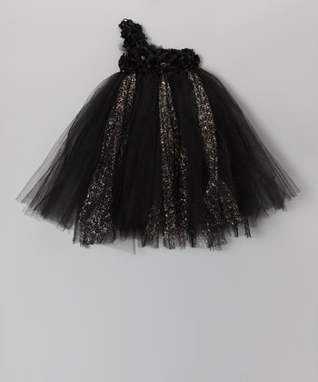 Black Blossom Tutu Dress - Infant, Toddler & Girls