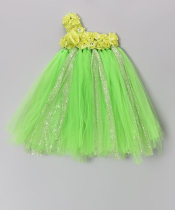 Green Blossom Tutu Dress - Infant, Toddler & Girls