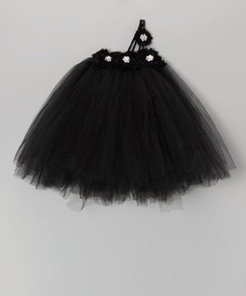 Black Jewel Blossom Tutu Dress - Infant, Toddler & Girls