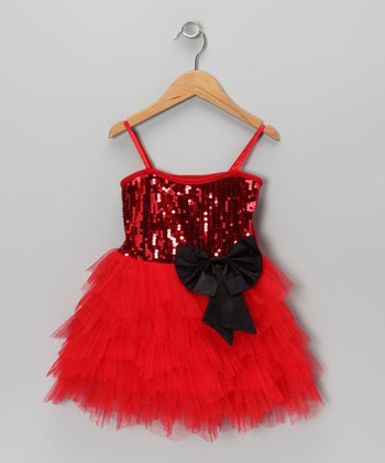 Red Sequin Princess Dress - Toddler & Girls
