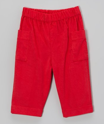 Red Corduroy Pants - Infant & Toddler