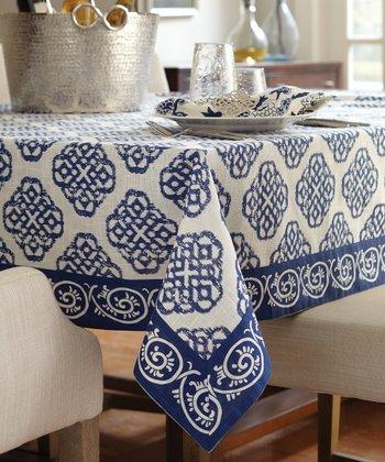 Split P Blue & White Mandarin Lapis Tablecloth