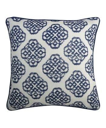 Split P Blue & White Mandarin Pillow