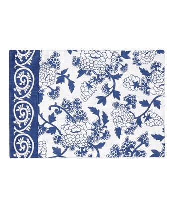 Split P Blue & White Mandarin Lapis Place Mat - Set of Four