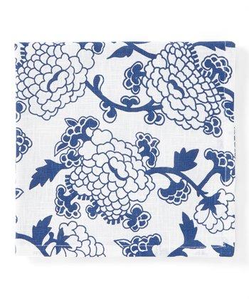 Split P Blue & White Floral Mandarin Napkin - Set of Four