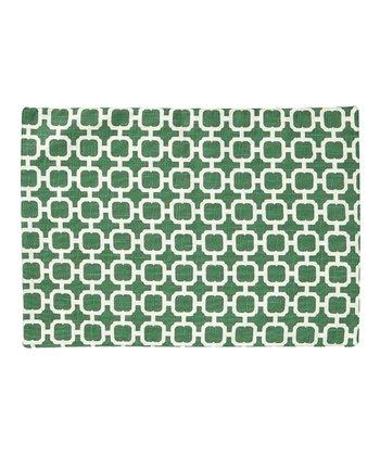 Split P Cream & Green Malachite Reversible Place Mat - Set of Four