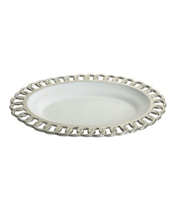 Split P Links Oval Serving Plate