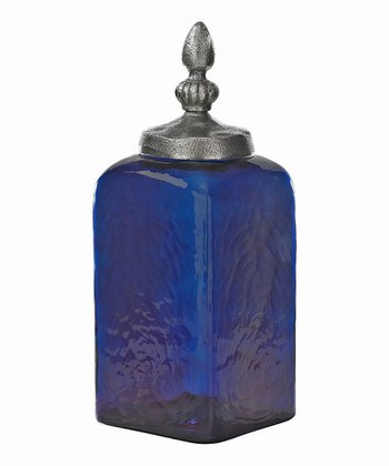 Split P Cobalt Blue 12'' Glass Jar