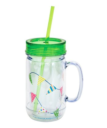 Green Pennants 26-Oz. Mason Jar Tumbler