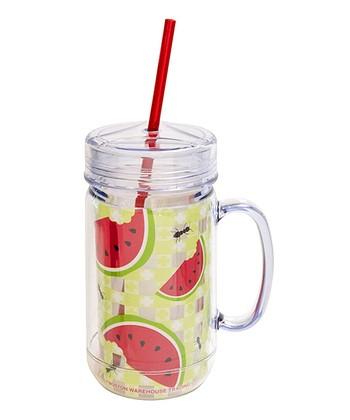Boston Warehouse Watermelon Picnic 26-Oz. Mason Jar Tumbler