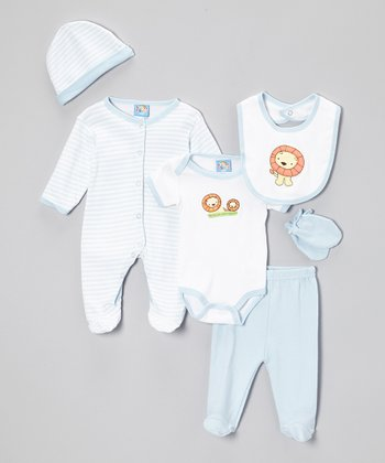 Blue Lion Six-Piece Layette Set - Infant