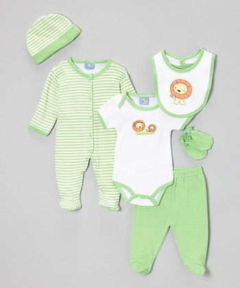 Green Lion Six-Piece Layette Set - Infant