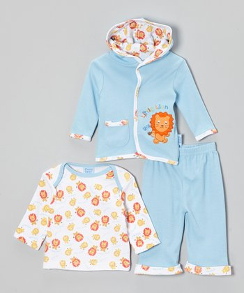 Cutie Baby Blue 'Lion' Jacket Set - Infant