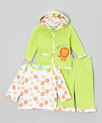 Cutie Baby Green 'Lion' Jacket Set - Infant