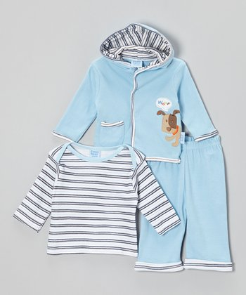 Cutie Baby Blue Puppy Jacket Set - Infant