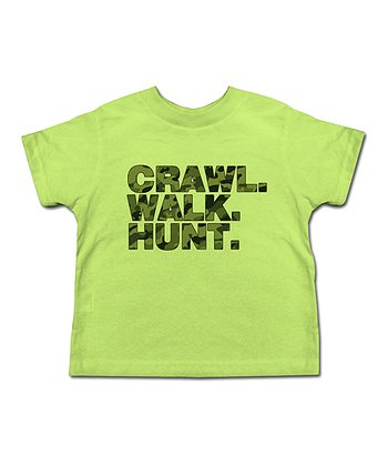 Lime & Camo 'Crawl Walk Hunt' Tee - Toddler & Kids