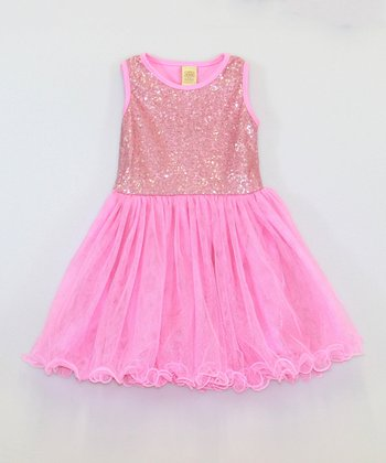 Mia Belle Baby Rose Sequin Tutu Dress - Toddler & Girls