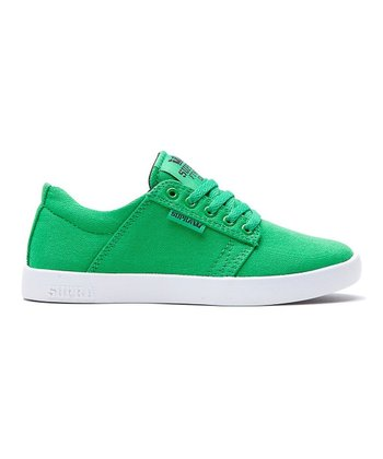 Green & White Westway Sneaker - Kids