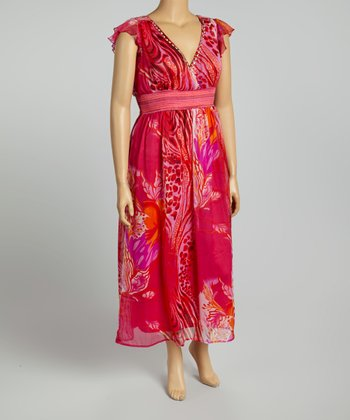 Fuchsia Floral Maxi Dress