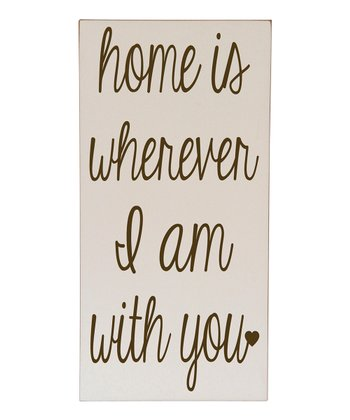 Cream & Brown 'Home is With You' Wall Art