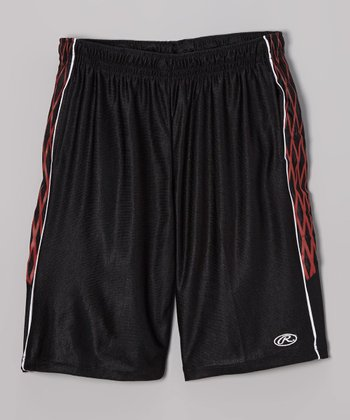 True Black & Red Shorts