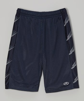 Twilight Black & Silver Mesh Shorts
