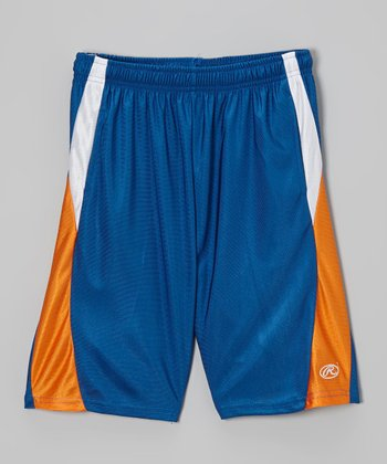 Deep Royal Blue & Orange Shorts
