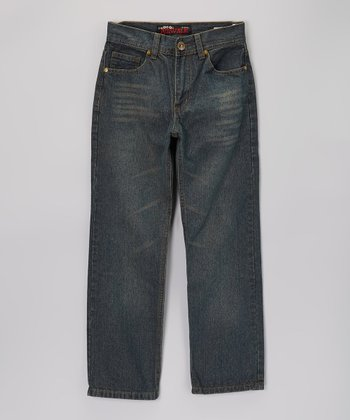 Tinted Bake Wash Straight-Leg Jeans