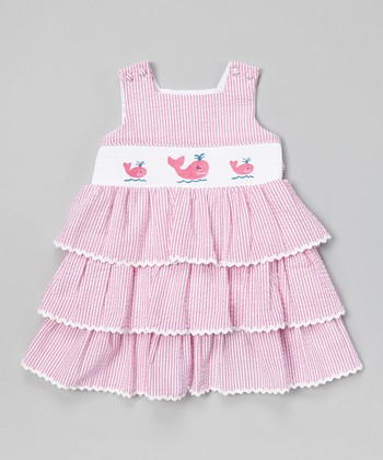 Pink Stripe Whale Smocked Jumper - Infant & Toddler