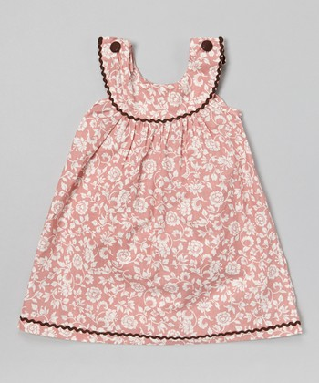 Pink Floral Yoke Jumper - Infant, Toddler & Girls